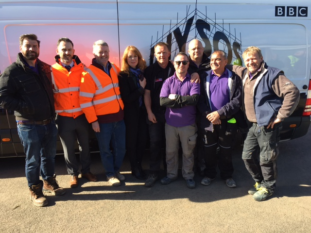 JPE working with DIY SOS